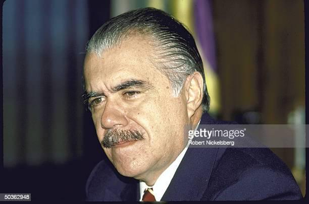 Brazilian Pres. Jose Sarney at Palacio Planalto.