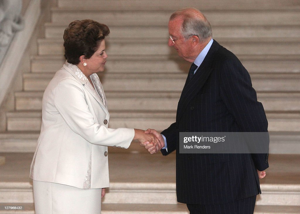 Brazilian president dilma rouseff visits brussels photos and images brazilian president dilma rousseff and king albert ii of belgium greet each other at laeken castle m4hsunfo Images