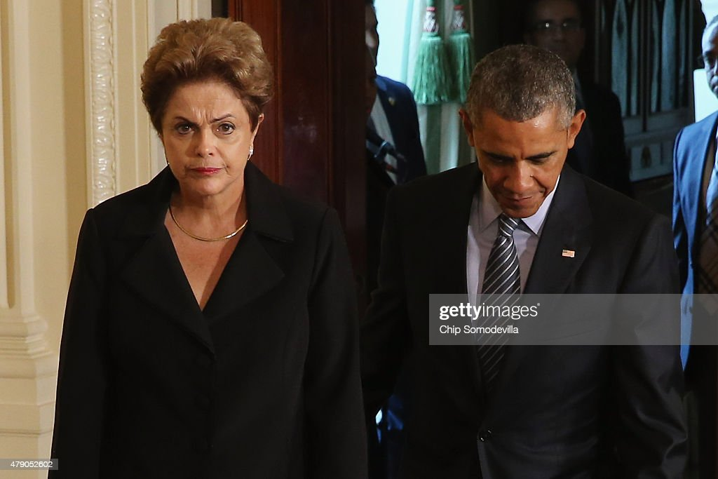 Obama Holds News Conference With Brazil's President Rousseff : News Photo