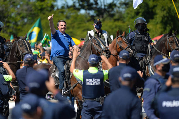 BRA: Bolsonaro Attends Manifestation With His Supporters in Front of Palacio do Planalto Amidst the Coronavirus (COVID - 19) Pandemic