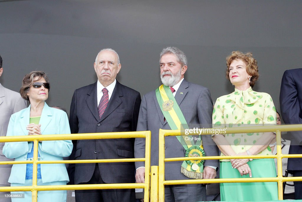 Officials Attend a Military Parade, in the Celebrations of Brazil National Day