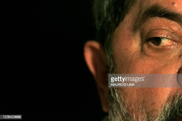 Brazilian president Luiz Inacio Lula da Silva delivers a speech during a lunch organized by ABC Metalworkers Union, in his home town of Sao Bernardo...