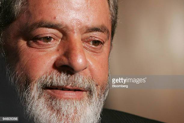 Brazilian President Luiz Inacio Lula da Silva speaks during an interview at Planalto Palace in Brasilia Brazil Tuesday October 31 2006 Brazilian...