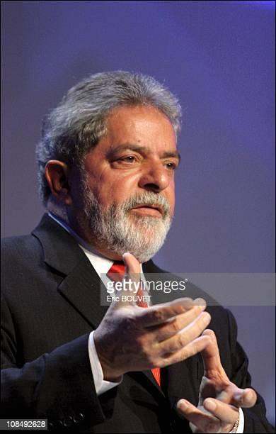 Brazilian president Lula da Silva in Davos Switzerland in February 2005