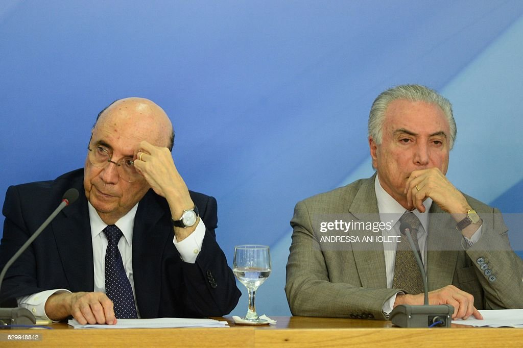 BRAZIL-ECONOMY-TEMER-MEIRELLES : News Photo