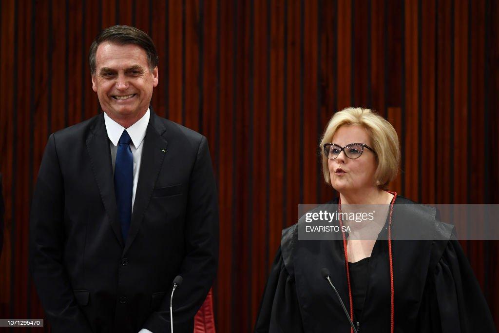 BRAZIL-ELECTORAL-COURT-BOLSONARO-WEBER : News Photo