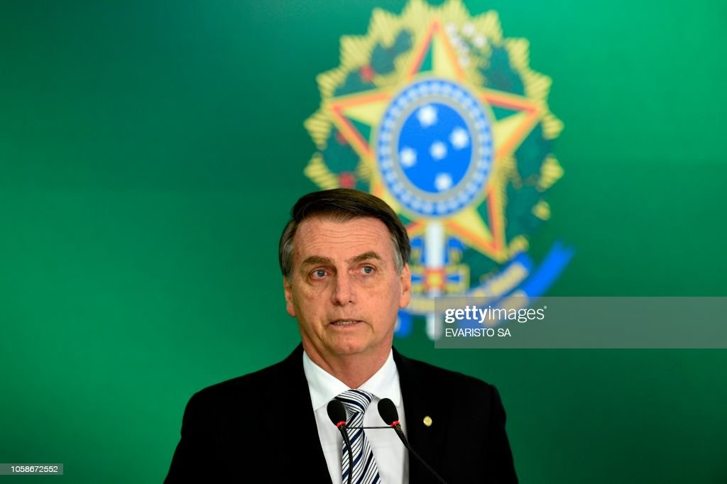 BRAZIL-POLITICS-TEMER-BOLSONARO : News Photo
