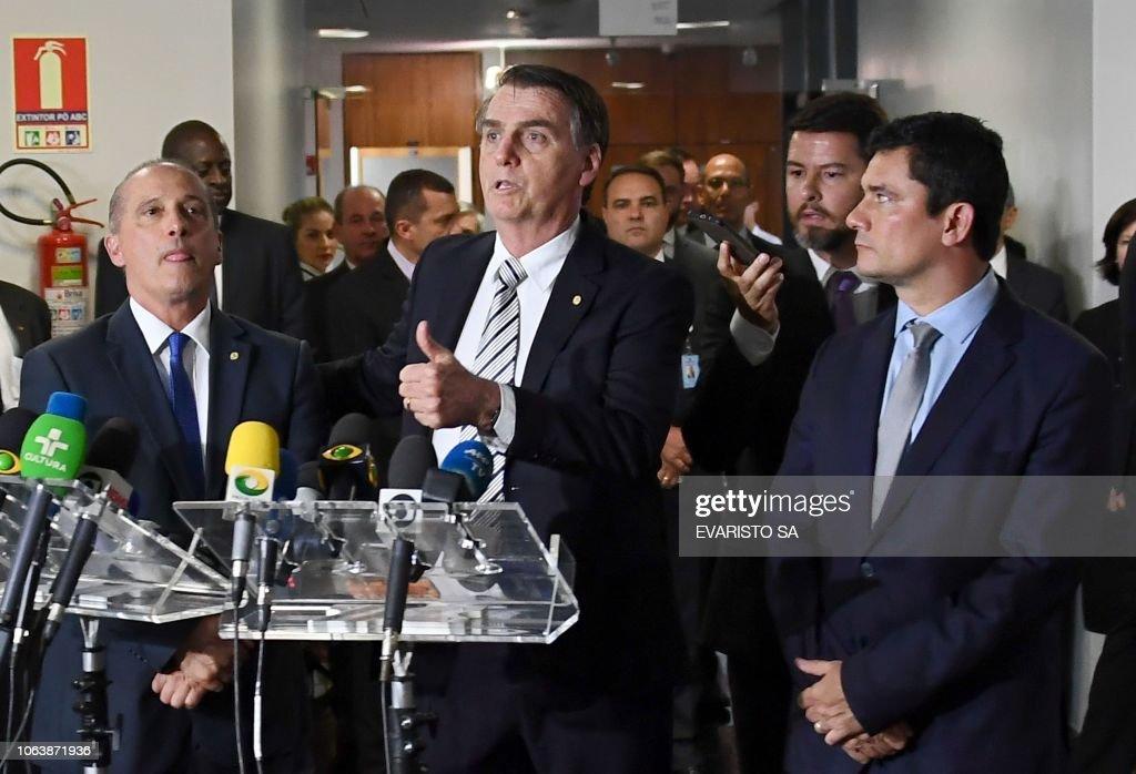 BRAZIL-POLITICS-BOLSONARO-LORENZONI-MORO : News Photo