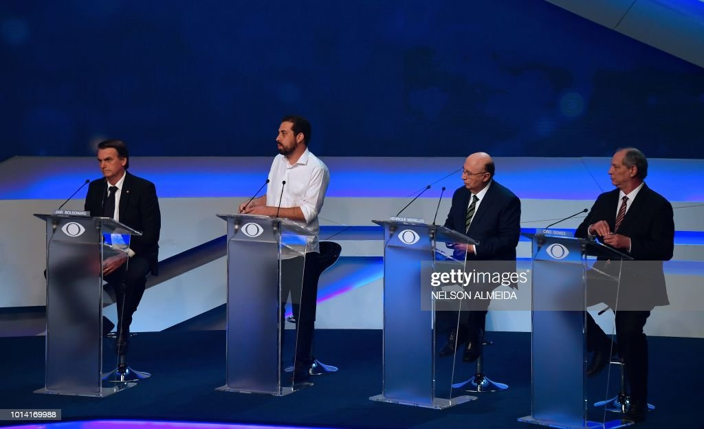 BRAZIL-ELECTION-CANDIDATES-DEBATE : News Photo