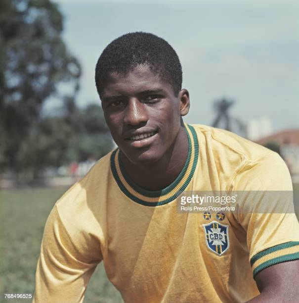 Brazilian professional footballer and defender with the Brazil national football team Ze Maria posed during a training session in 1970 Ze Maria would...