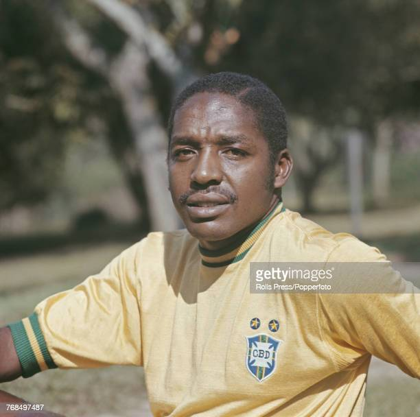 Brazilian professional footballer and defender with the Brazil national football team Joel Camargo in 1970 Joel would go on to play for the...