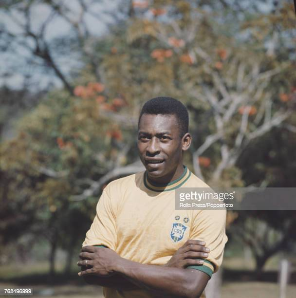 Brazilian professional footballer and forward with the Brazil national football team Pele in 1970 Pele would go on to play for the victorious Brazil...