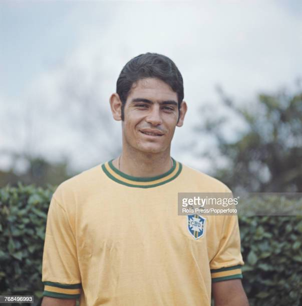 Brazilian professional footballer and midfielder with the Brazil national football team Rivellino posed in 1970 Rivellino would go on to play for the...