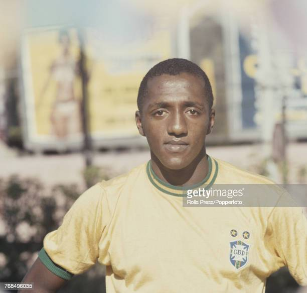 Brazilian professional footballer Botafogo player and midfielder with the Brazil national football team Paulo Cezar Caju posed in 1970 Caju would go...