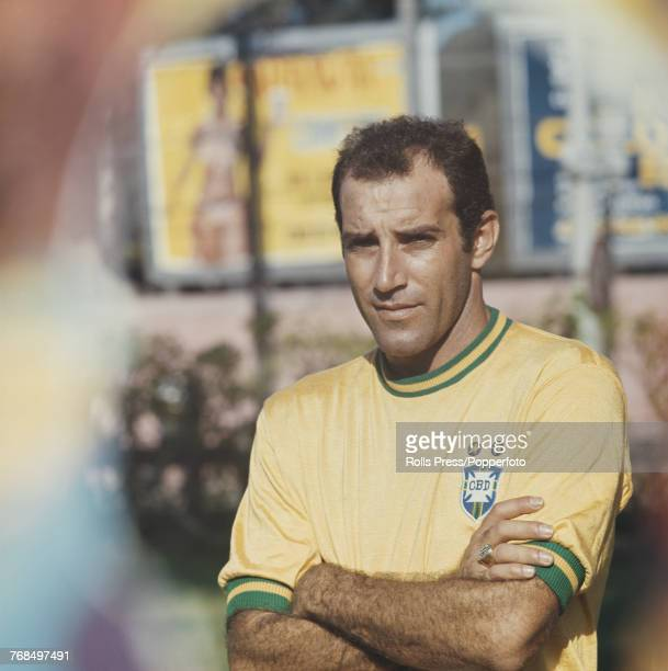 Brazilian professional footballer Sao Paulo player and midfielder with the Brazil national football team Gerson posed in 1970 Gerson would go on to...