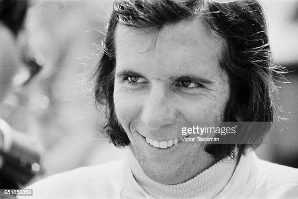 Brazilian racing driver Emerson Fittipaldi during practice at Silverstone, UK, 1971.