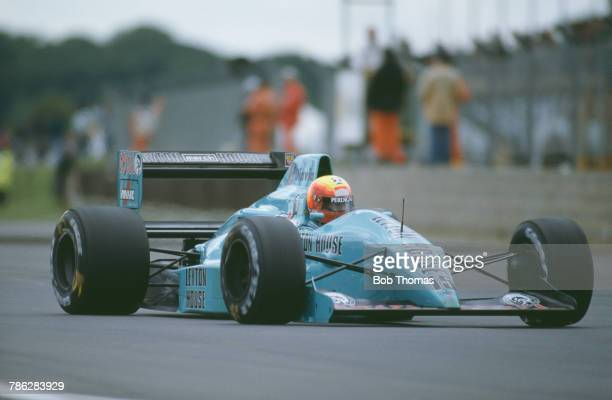 Brazilian racing driver Mauricio Gugelmin drives the Leyton House March Racing Team March 881 Judd CV 35 V8 to finish in 4th place in the 1988...