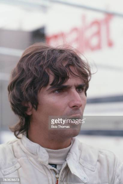 Brazilian racing driver Nelson Piquet driver of the Parmalat Racing Team Brabham BT49C Cosworth V8 pictured prior to competing in the 1981 British...