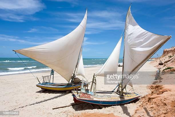 Brasileiro Vela barcos em do Ceará