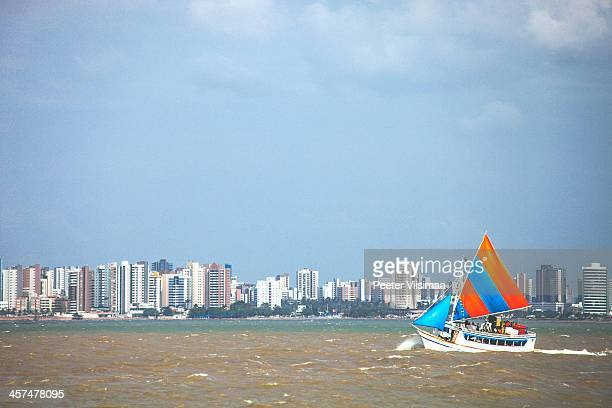 brazilian sailboat - maranhao state stock pictures, royalty-free photos & images