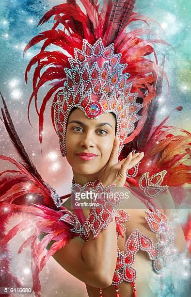 ブラジルのサンバカーニバルダンサーの衣装