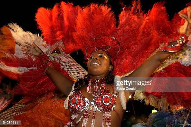Brazilian samba dancers during Rio de Janeiro carnival Brazil