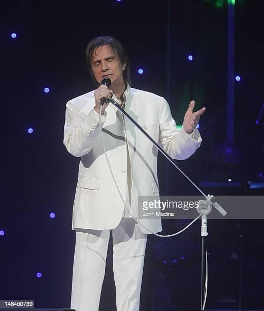Brazilian singer and composer Roberto Carlos performs at HP Pavilion on June 15 2012 in San Jose California