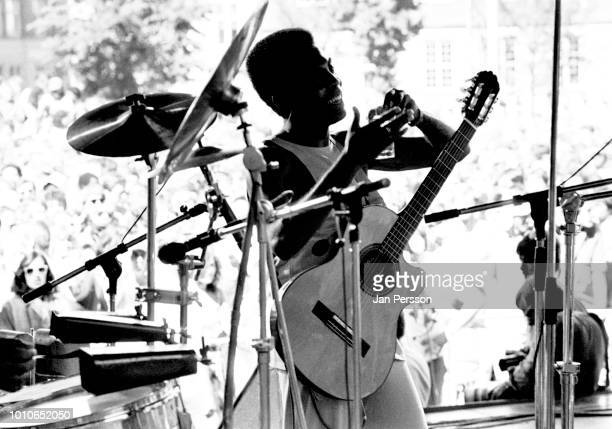 Brazilian singer and guitarist Gilberto Gil performing at Copenhagen Jazzfestival Denmark July 1985