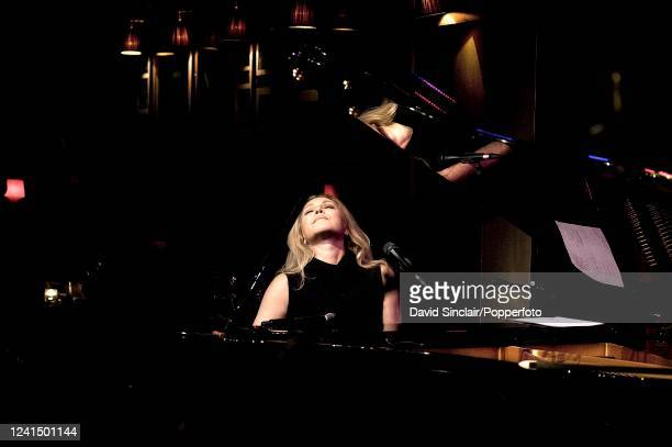 Brazilian singer and pianist Elaine Elias performs live on stage at Ronnie Scott's Jazz Club in Soho London on 21st February 2011
