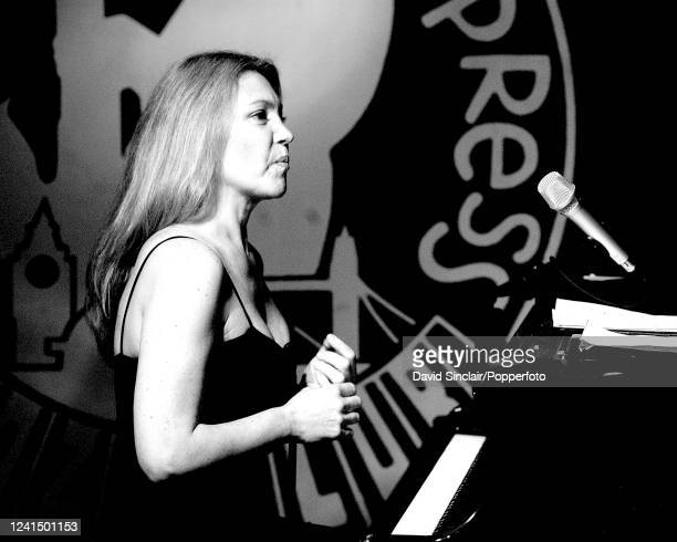 Brazilian singer and pianist Elaine Elias performs live on stage at PizzaExpress Jazz Club in Soho London on 8th July 2004