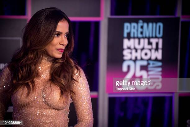 Brazilian singer Anitta attends to the 2018 Multishow Awards at Rio Olympic Arena on September 25 2018 in Rio de Janeiro Brazil
