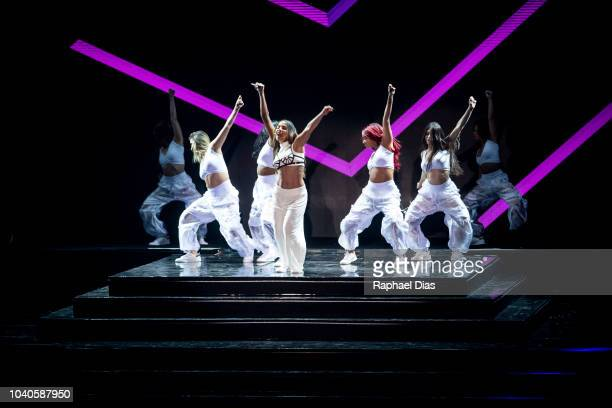 Brazilian singer Anitta performs at 2018 Multishow Awards at Rio Olympic Arena on September 25 2018 in Rio de Janeiro Brazil