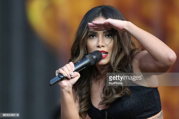 Brazilian singer Anitta performs at the Rock in Rio Lisboa 2018 music festival in Lisbon Portugal on June 24 2018