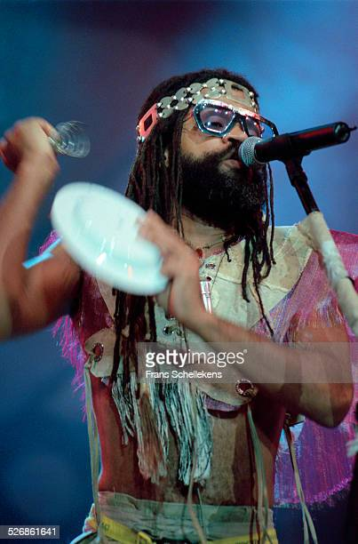 Brazilian singer Carlinhos Brown performs on July 11th 1999 at the North Sea Jazz Festival in the Hague Netherlands