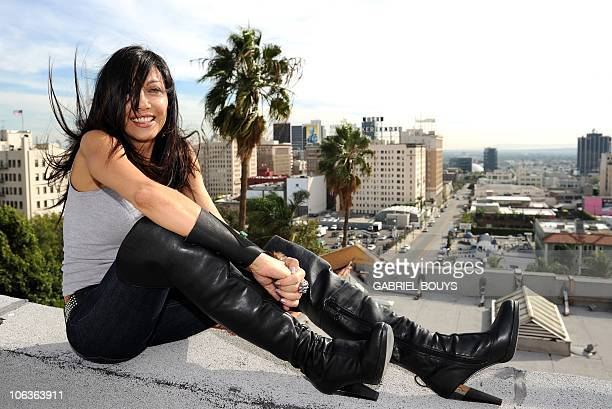 Brazilian singer Carlos Sotto Mayor poses in Los Angeles California on October 29 2010 Carlos Sotto Mayor former girlfriend of French movie star...