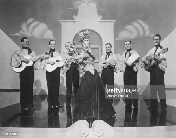 Brazilian singer Carmen Miranda stars in the 20th Century Fox musical romance 'Down Argentine Way' 1940