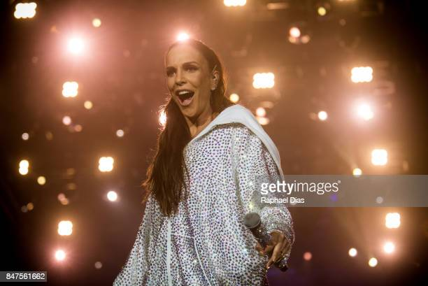 Brazilian singer Ivete Sangalo performs at day 01 of Rock in Rio 2017 on September 15 2017 in Rio de Janeiro Brazil