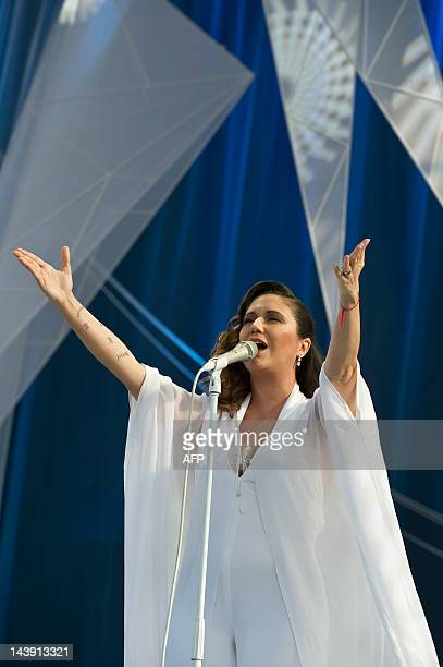 Brazilian singer Maria Rita performs on stage during the Viva Elis project at Parque da Juventude in Sao Paulo Brazil on May 05 2012 Maria Rita...