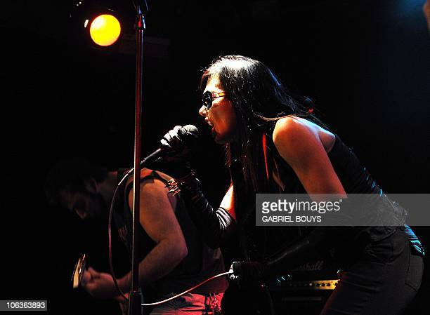 Brazilian singer performs at the Viper Room in Los Angeles California on October 25 2010 Carlos Sotto Mayor former girlfriend of French movie star...