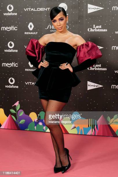 Brazilian singer songwriter dancer television host and actress Anitta attends 'Los40 music awards 2019' photocall at Wizink Center on November 08...