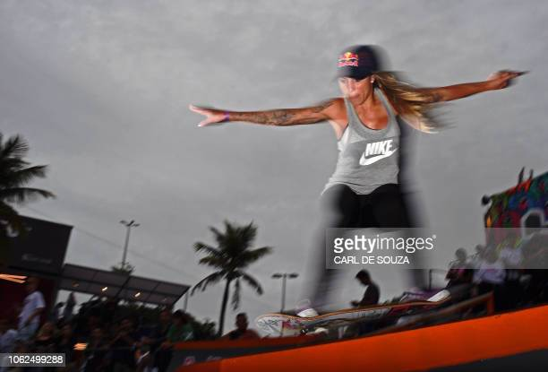 Brazilian skateboarder Leticia Bufoni member of the Brazilian 2020 Olympic skateboarding team and currently ranked number one in the women's street...