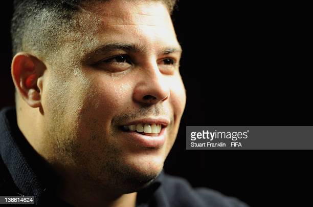 Brazilian soccer legend Ronaldo during an interview prior to the FIFA Ballon d'Or Gala 2011 at the Kongresshaus on January 09 2012 in Zurich...
