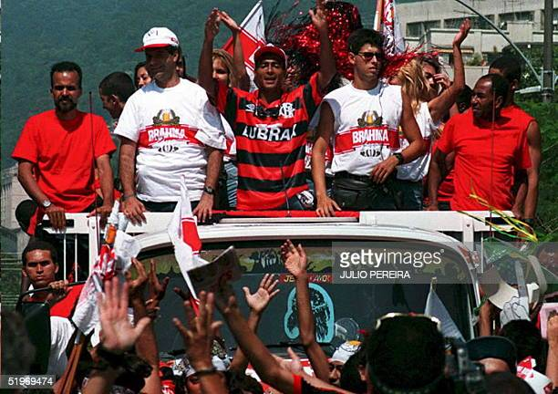 Brazilian soccer player Romario is greeted by hundreds of fans upon his arrival to Rio de Janeiro 14 January Romario who played on Brazil's 1994...