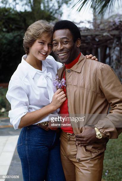 Brazilian soccer star Pele and his wife Choucha