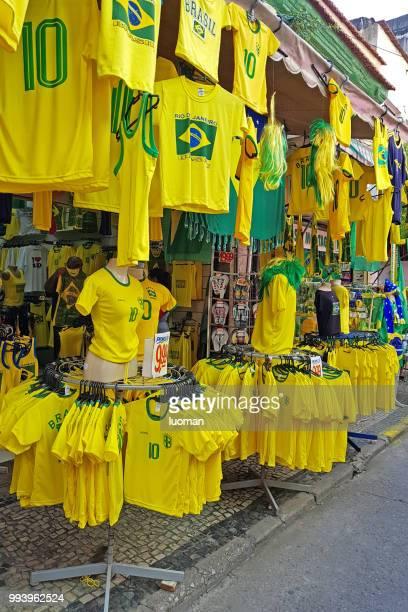 ブラジルのサッカー チームのユニフォーム - sports uniform ストックフォトと画像