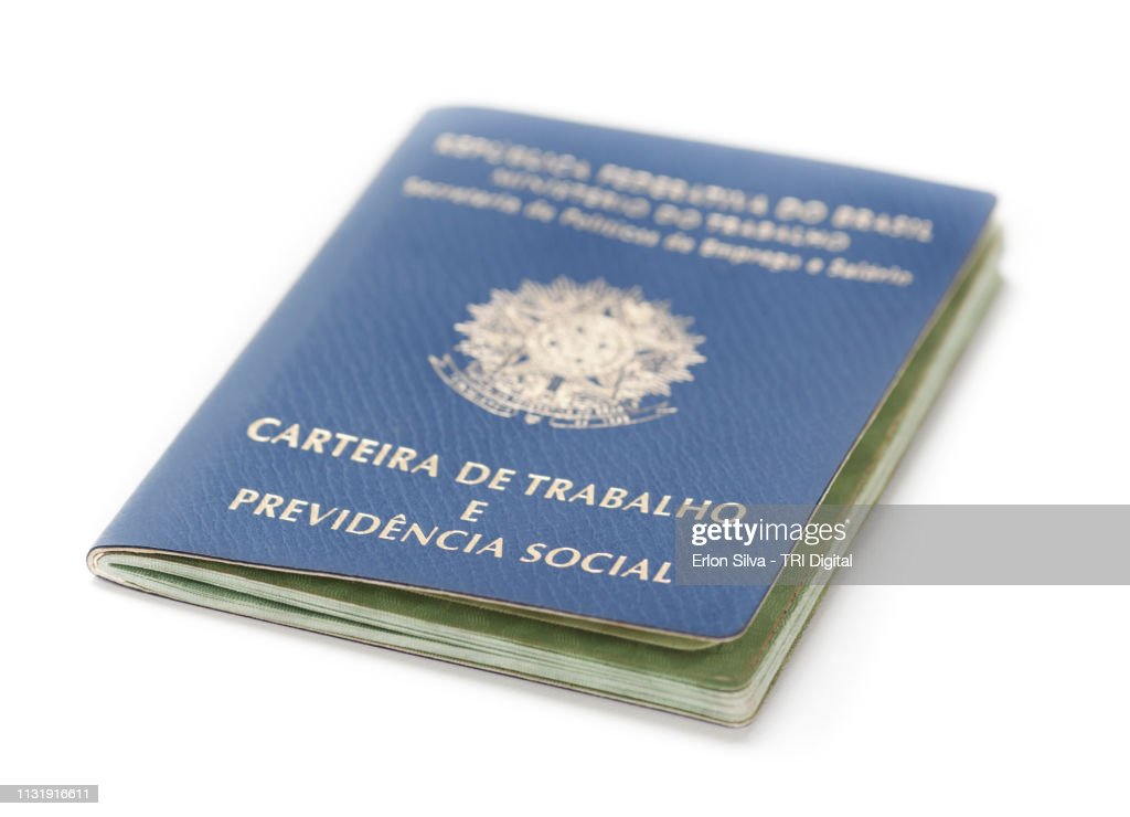 Brazilian social security and work permit : ストックフォト
