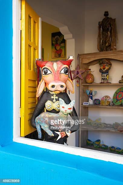 Brazilian Souvenir Shop Colorful Window Olinda Brazil
