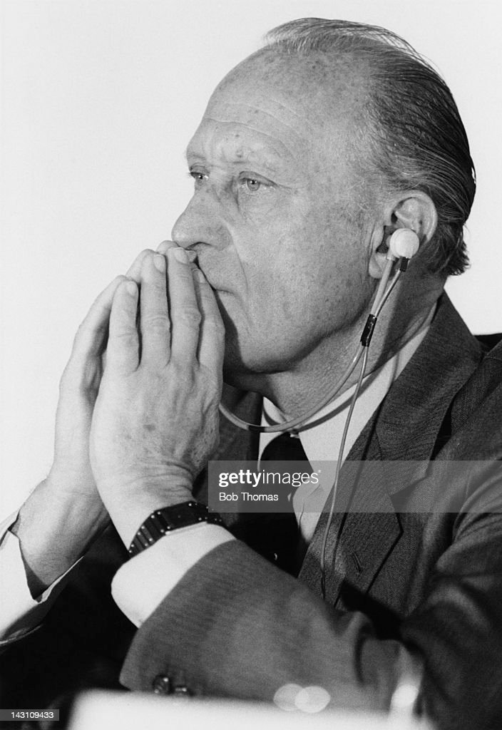 Brazilian sports administrator Joao Havelange, 7th President of FIFA, June 1983. Havelange also served on the the International Olympic Committee from 1963 until his resignation in 2011.