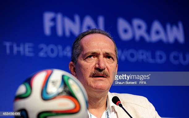 Brazilian Sports Minister Aldo Rebelo attends a press conference during a media day ahead of the Final Draw for the 2014 FIFA World Cup at Costa do...