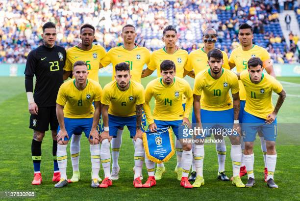 Brazilian Squad Ederson Moraes Eder Militao Richarlison Andrade Roberto Firmino Joao Miranda Carlos Casemiro Arthur Melo Alex Telles Fagner Lemos...